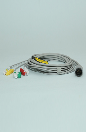 3 LEAD 6 PIN ECG CABLE