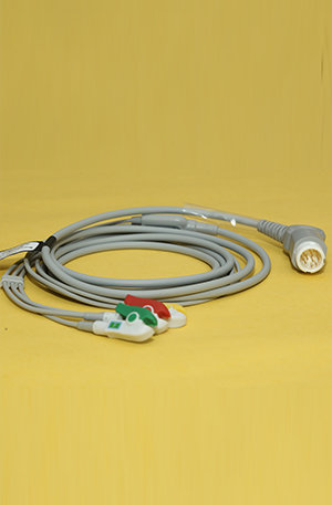 PHILIPS ECG CABLE 3 LEAD 12 PIN ..
